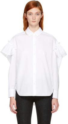Sjyp White Sleeve Frill Shirt