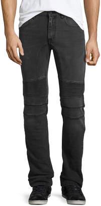 Belstaff Eastham Moto-Style Slim-Fit Jeans, Gray