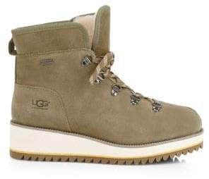 UGG Birch Lace-Up Shearling Leather Boots