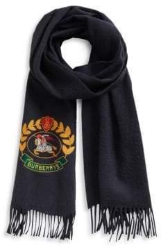 Burberry Cashmere Crest Scarf