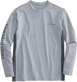 Vineyard Vines Long-Sleeve Performance Side Panel Fish Scale T-Shirt