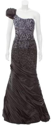 Jovani Sequin Embellished One-Shoulder Evening Gown w/ Tags
