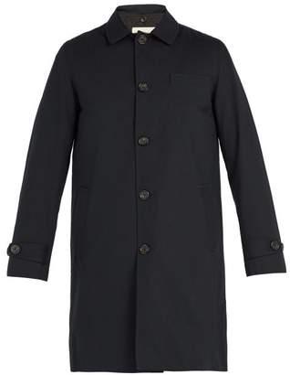 Oliver Spencer Beaumont Gabardine Coat - Mens - Navy