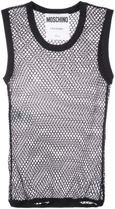 Moschino sleeveless mesh tank top