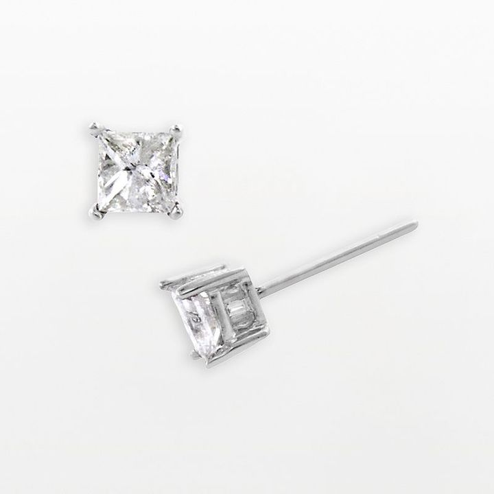 14k White Gold 1-Ct. T.w. Diamond Stud Earrings