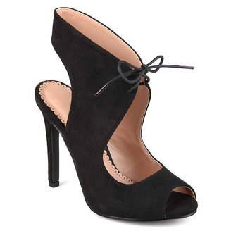 Journee Collection Womens Indigo Pumps Lace-up Open Toe Stiletto Heel