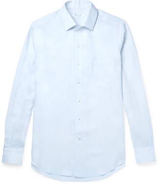 Loro Piana Slub Linen Shirt - Light blue