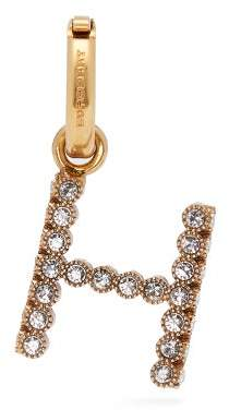Burberry H Crystal Embellished Letter Charm - Womens - Crystal