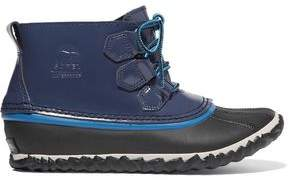 Sorel Out N About Rain Waterproof Patent-Leather And Rubber Boots