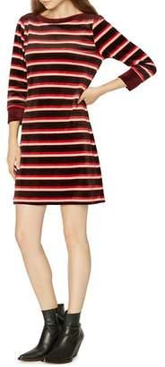 Sanctuary Katia Velour Stripe Dress