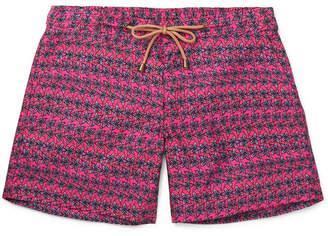 Thorsun Leaf Slim-Fit Short-Length Printed Swim Shorts