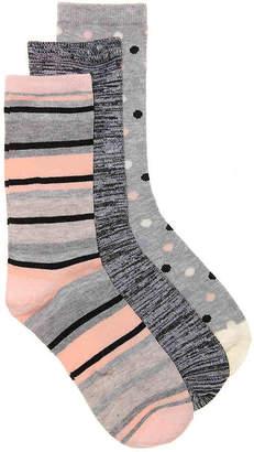 Kelly & Katie Stripes & Dots Crew Socks - 3 Pack - Women's