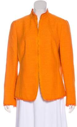 Akris Punto Tweed Long Sleeve Blazer