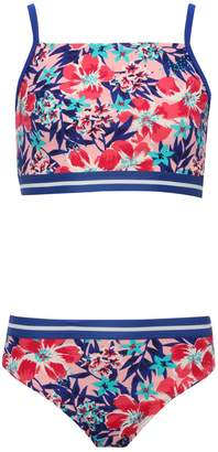 M&Co Teens' tropical floral bikini