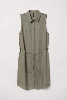 H&M Sleeveless Shirt Dress - Green