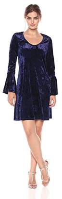 Karen Kane Women's Velvet Bell Sleeve Dress