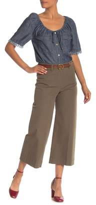 Trina Turk Tailor Wide Leg Cropped Pants