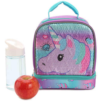 Box Girls Fast Forward Emoji Unicorn Lunch Box - Girl's
