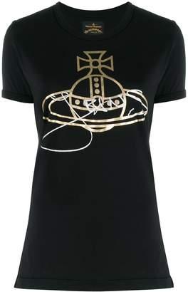 Vivienne Westwood metallic effect printed logo T-shirt