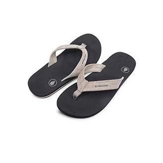 50c8bcb52c64 Volcom Men s Driftin Suede Strap Leather Flip Flop Sandal