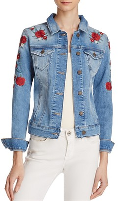 Mavi Samantha Embroidered Denim Jacket - 100% Exclusive $128 thestylecure.com