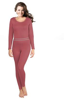 82e4bc5b39cc Rocky Women's 2 pc Ultra Soft Thermal Underwear, Top & Bottom Fleece Lined  Long Johns
