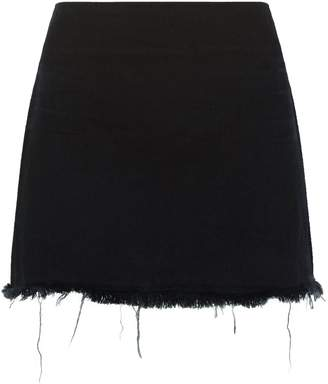 Alexander Wang Zip Denim Mini Skirt