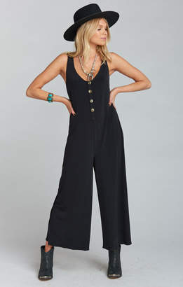 Show Me Your Mumu Goulding Jumpsuit ~ Black Spandy
