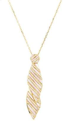 Mother of Pearl 18K & Diamond Pendant Necklace