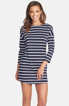 Women's Bb Dakota 'Phillipa' Stripe Ponte Shift Dress $88 thestylecure.com
