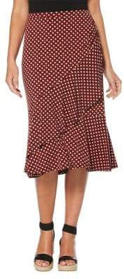 Rafaella Geometric-Print Tiered Knee-Length Skirt