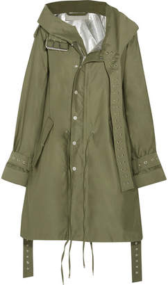 Monse - Eyelet-embellished Cotton-twill Jacket - Army green