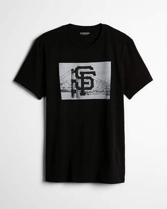 Express San Francisco Giants Black Graphic Tee