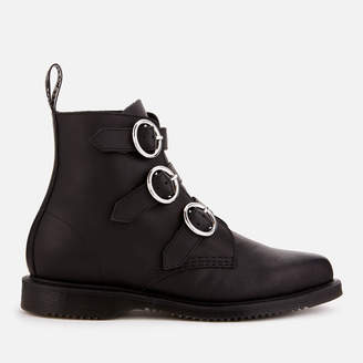 Dr. Martens Women's Maudie Leather Flat Ankle Boots - Black