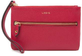 Lodis Colleen Small Leather Wristlet Clutch