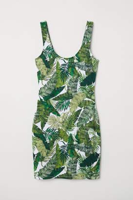 H&M Sleeveless Jersey Dress - Green
