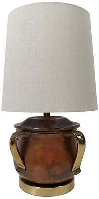 One Kings Lane Vintage Copper & Brass Table Lamp - Tobe Reed