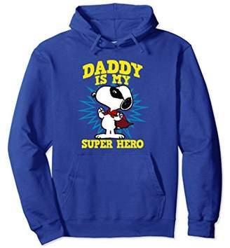 Peanuts Daddy is my super hero Snoopy Hoodie