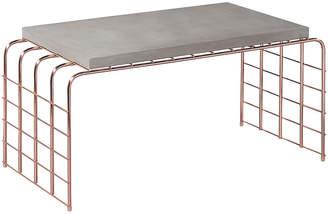 Mesh-Link Outdoor Tall Coffee Table - Slate Gray - Seasonal Living