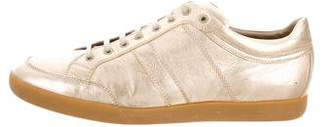 Christian Dior Metallic Low-Top Sneakers