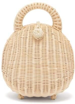 Cult Gaia Millie Woven Rattan Basket Bag - Womens - Cream