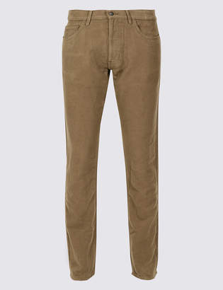 M&S CollectionMarks and Spencer Italian Moleskin Slim Fit 5 Pocket Trousers