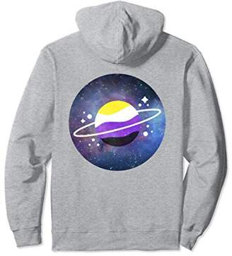 Space Aesthetic Planet Non Binary Pride Flag Colors Hoodie
