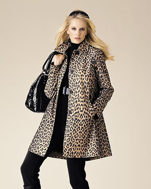 Via Spiga Leopard Print Raincoat