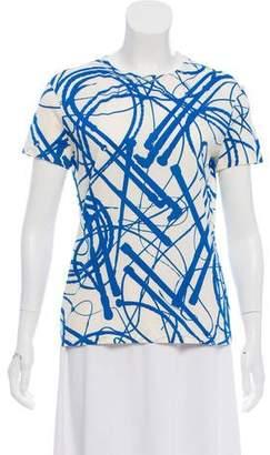 Hermes Printed Short Sleeve Top w/ Tags