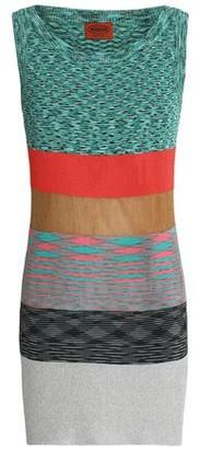 Missoni Color-Block Stretch-Knit Mini Dress