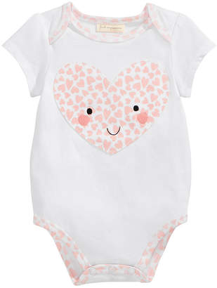 First Impressions Heart-Print Bodysuit, Baby Girls, Created for Macy's