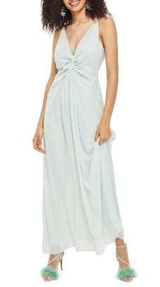 Topshop Spot Foil Maxi Dress