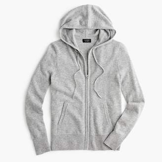 J.Crew Everyday cashmere zip-front hoodie