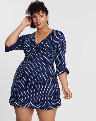 Tie-Front Jersey Tea Dress